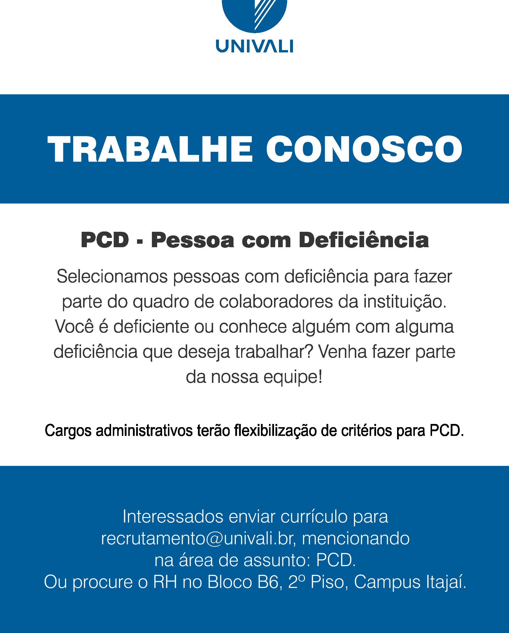 ff65df85e Trabalhe Conosco - Univali